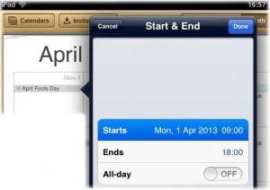 iPad calendar crashes